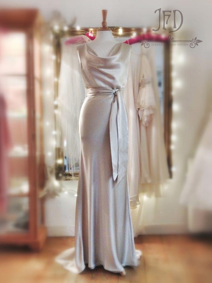 Best 25 silk satin ideas only on pinterest silk dress for Satin cowl neck wedding dress