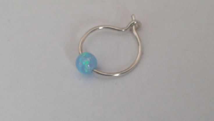 Tiny Hoop Nose Ring - Opal Nose Ring - Septum Nose Ring - Gold Filled Nose Ring - Nose Piercing Ring - Nose Ring - Opal Nose Hoop - Hoop by opaljewells on Etsy