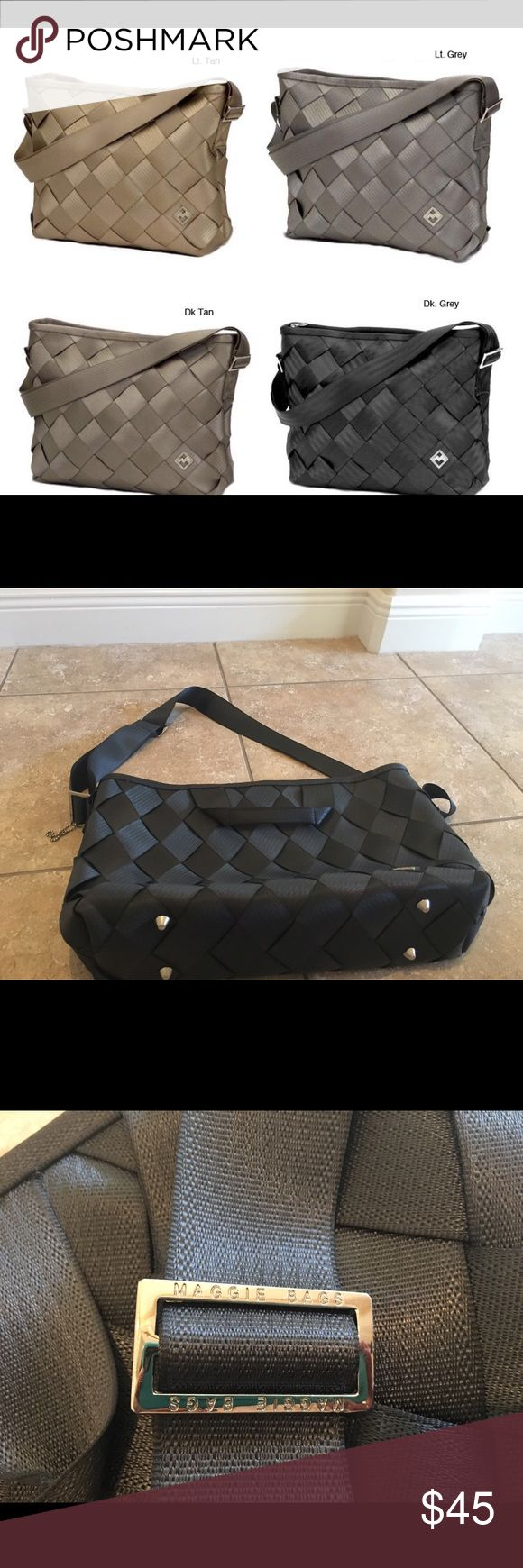 Maggie Bag seatbelt messenger bag Authentic seatbelt bag by Maggie bags. Excellent condition, never used. Inside is lined in purple. Has a side pocket inside of bag, a card holder on side of bag and two other small pockets. This is a messenger bag, perfect for a laptop. Offers Welcome on this beautiful bag Bags Satchels