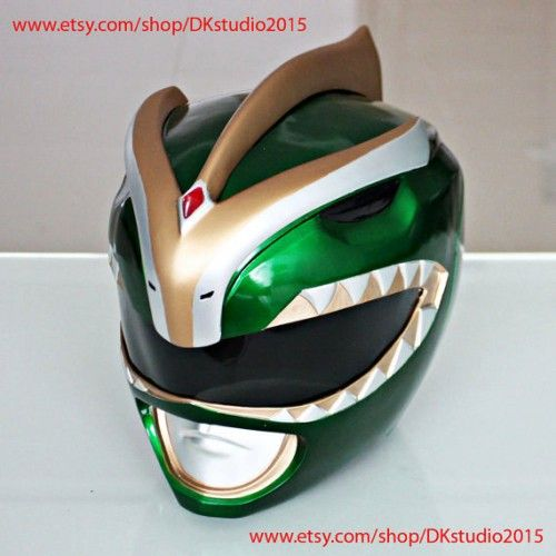 exclusif  Power Rangers casque Costume masque, Power Ranger Cosplay Ranger vert