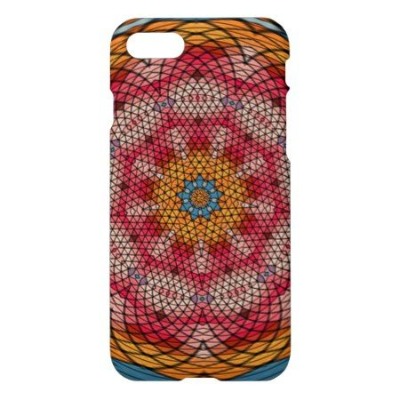 Mosaic kaleidoscope pattern iPhone 7 case - click to get yours right now!
