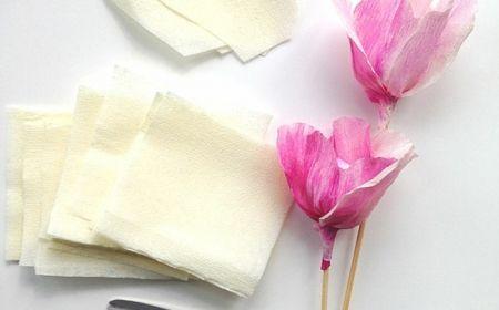17 meilleures id es propos de fleur papier crepon sur - Comment faire une rose en papier facile ...