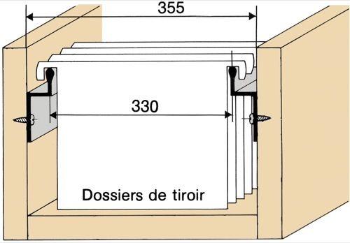 profil pour dossiers suspendus sur c t coin bureau pinterest. Black Bedroom Furniture Sets. Home Design Ideas