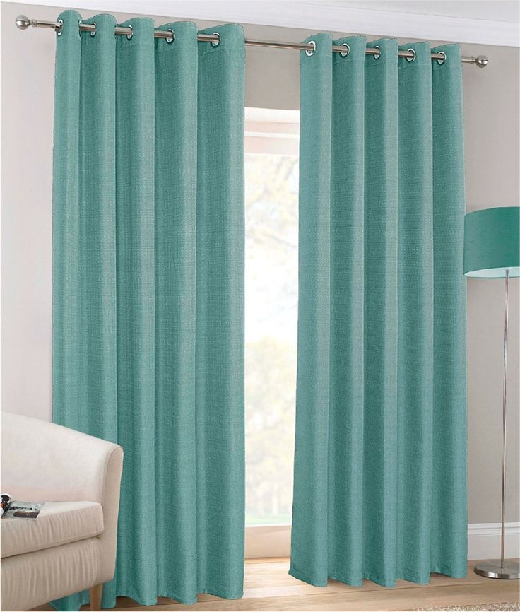 Alderley Teal Blackout Eyelet Curtains | Harry Corry Limited