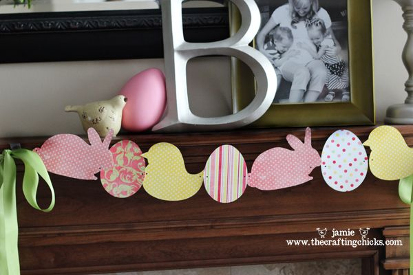 easter/spring bunting - a diy.