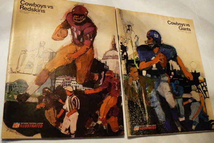 Vtg Lot of 2 1967 Cotton Bowl Nov Sept Cowboys vs Redskins Giants NFL Magazines | eBay