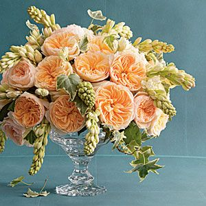 Romantic Roses peach reception wedding flowers,  wedding decor, wedding flower centerpiece, wedding flower arrangement, add pic source on comment and we will update it. www.myfloweraffair.com can create this beautiful wedding flower look.
