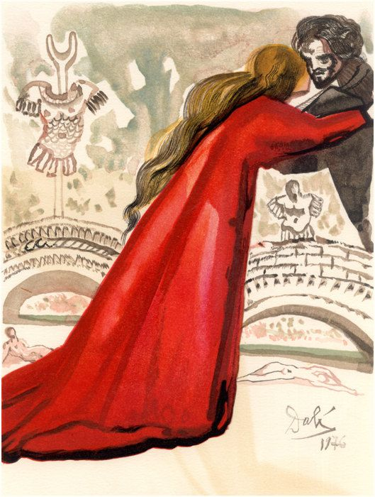 Set of x15 lart de aimer the art of love by Salvador Dali