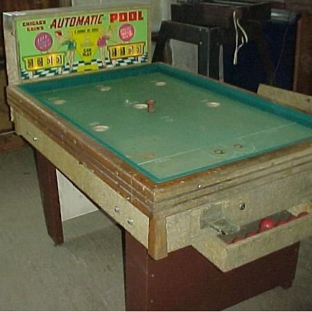 Bumper Pool, Pool Games, Arcade Games, Pool Table, Coins, Chicago