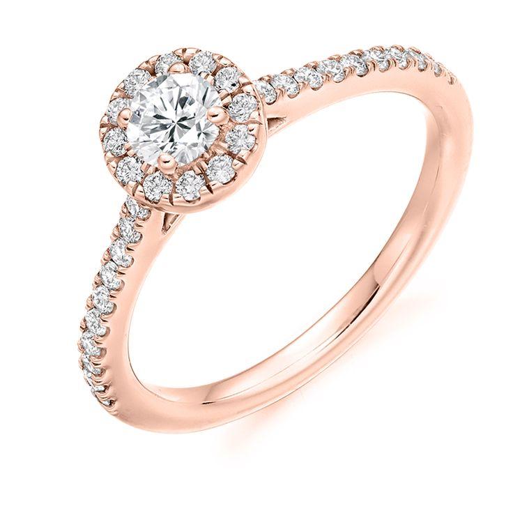 Halo Set 0.55ct Round Brilliant Cut Diamond Ring | Reppin & Jones Jewellers