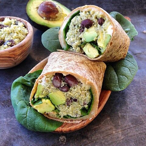 Quinoa Wrap With Black Beans, Feta And Avocado via @feedfeed on https://thefeedfeed.com/marinmamacooks/quinoa-wrap-with-black-beans-feta-and-avocado