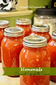 Homemade Canned Spaghetti Sauce:  25 pounds of tomatoes (about 60-65)  4 onions, finely chopped  4 green peppers, finely chopped  8 garlic cloves, minced  2 (12 ounce) cans of tomato paste  2 tablespoons dried oregano  2 tablespoons dried basil  1 tablespoon dried rosemary  1 tablespoon dried thyme  2 tablespoons Worcestershire sauce  bottled lemon juice