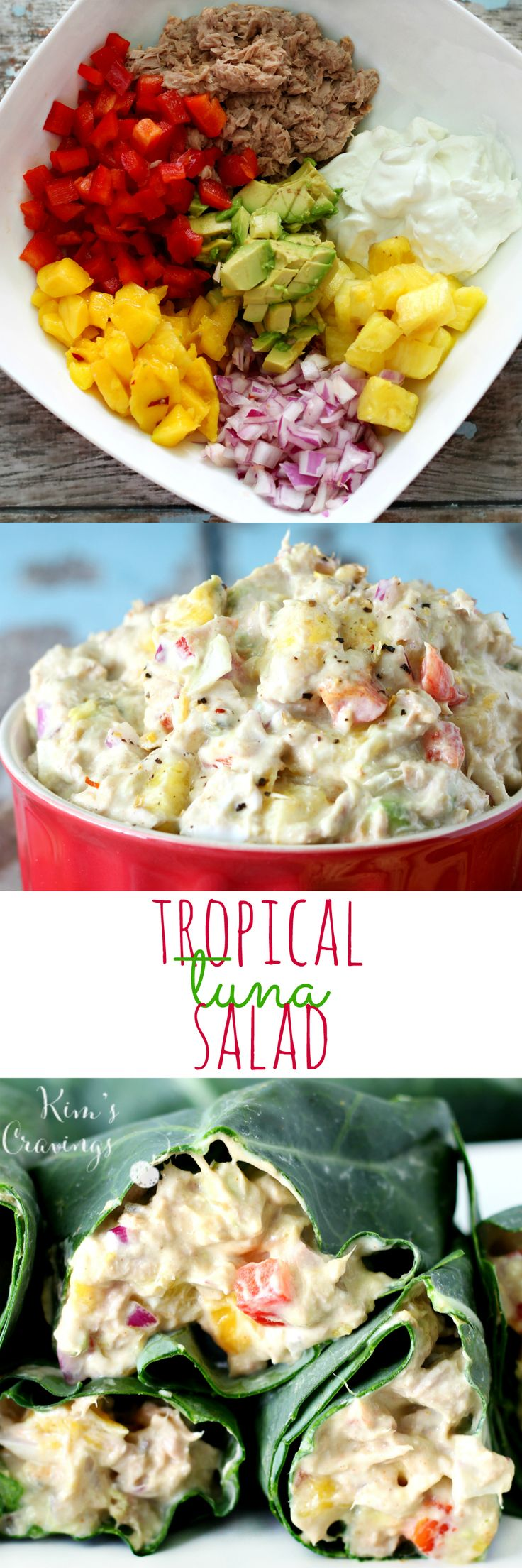 Tropical Tuna Salad- Get your summer on with the deliciousness of mango, pineapple and avocado! (gluten-free, healthy, protein-packed) #TunaStrong #CG