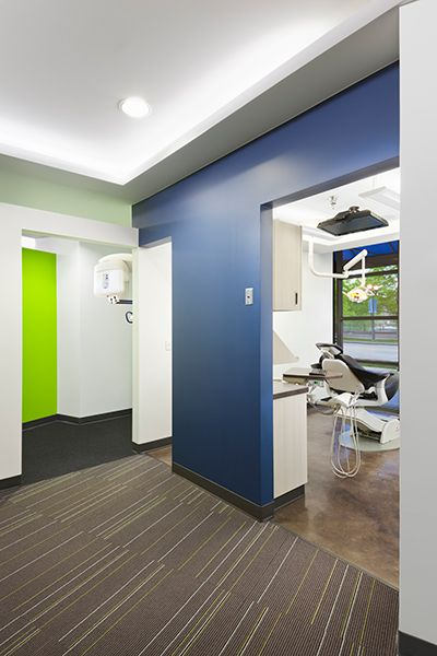 Stained concrete in ops  Riverfront Dental Designs - Dental Office Design by JoeArchitect in Denver Colorado