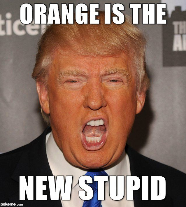 Trump Orange meme: ORANGE IS THE NEW STUPID  JAYJOCA
