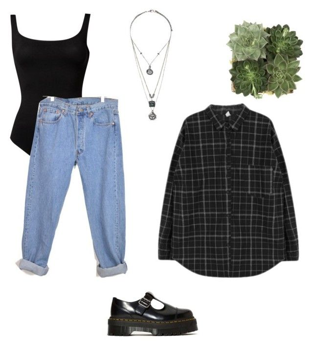 """tenue 47"" by julie-chloe-renard ❤ liked on Polyvore featuring Wolford, Jayson Home, Topshop and Dr. Martens"