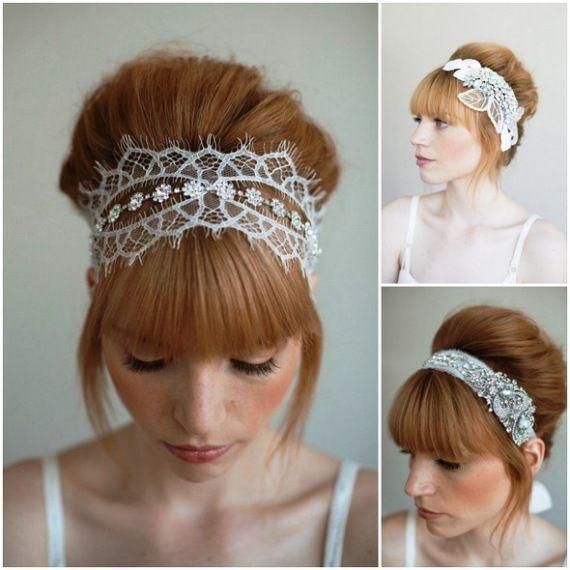 lacey wedding headband