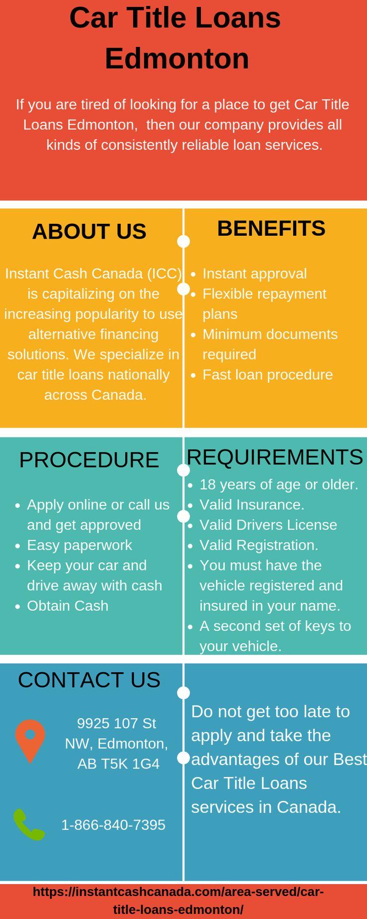 Car Title Loans Edmonton Instant cash, Collateral loans