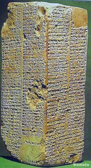 """The Sumerian King list - still puzzles historians after more than a century of research - it's an ancient manuscript originally recorded in the Sumerian language, listing kings of Sumer (ancient southern Iraq) from Sumerian and neighbouring dynasties, their supposed reign lengths, and the locations of """"official"""" kingship. It's unique is the fact that the list blends apparently mythical rulers with historical rulers who are known to have existed - and mentions before/after a great flood...x"""