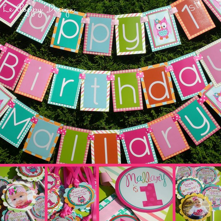 Owl Birthday Party Decorations Package - Look Whooo's One. $126.50, via Etsy.