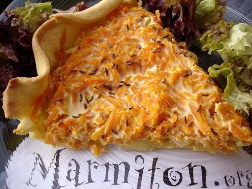 Tarte aux carottes et oignons : Recette de Tarte aux carottes et oignons - Marmiton