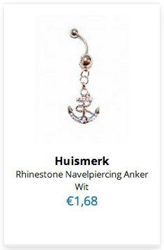 Rhinestone Navelpiercing Anker http://www.ovstore.nl/nl/cadeau/kerst-cadeautjes
