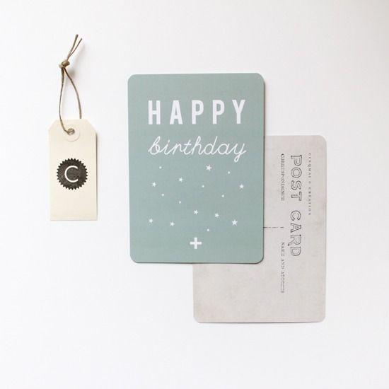 "Image of 3 Cartes postales ""HAPPY birthday"""
