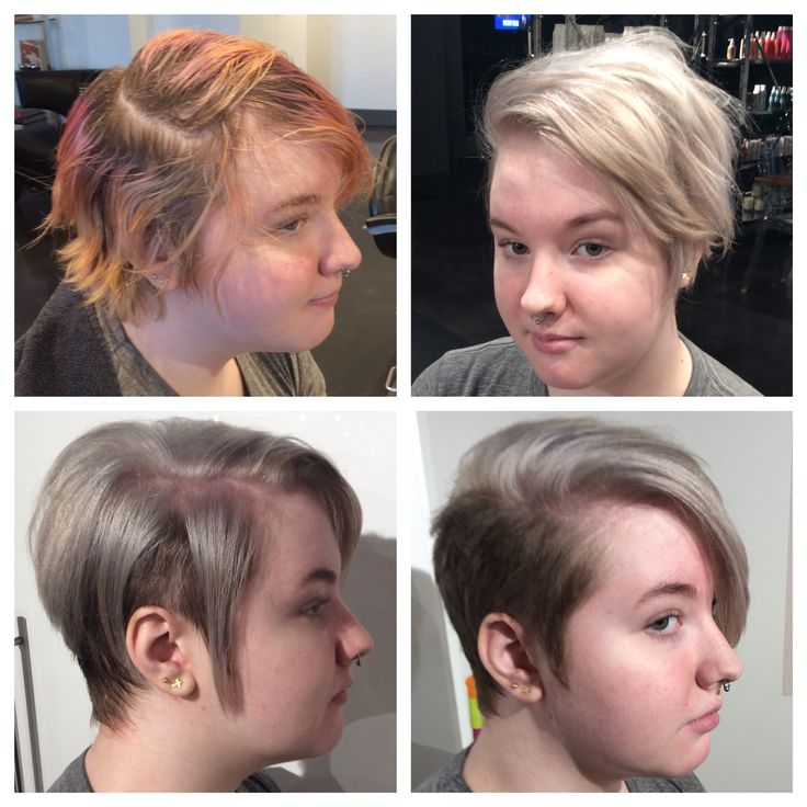 Before And After Hair Transformation Women S Undercut Women S Short Hair Short Women S