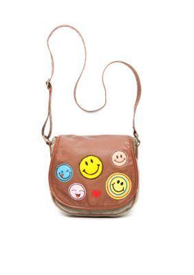 Red Camel  Emoji Happy Face Saddle Bag