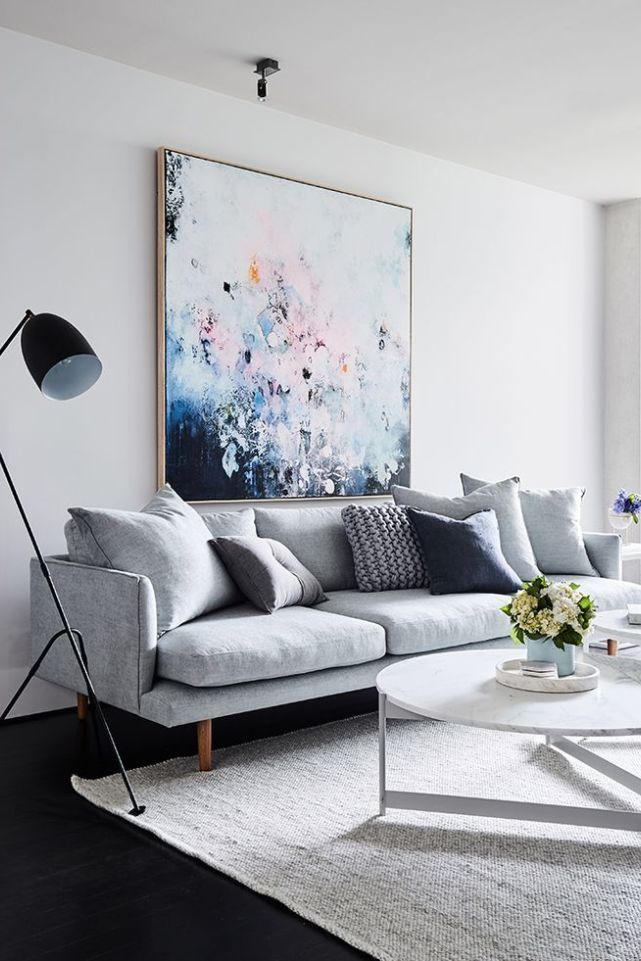 11 Light Gray Sofas For All Budgets Living Room Decor Blue Sofa