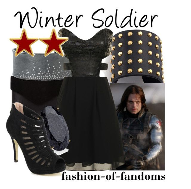 """""""Winter Soldier"""" by fofandoms ❤ liked on Polyvore featuring Graine, Michael Kors, Todd Reed, Glamorous, Monsoon, Pinky and George & Laurel"""