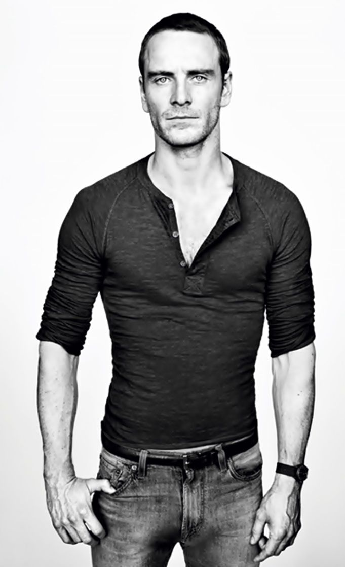 Michael Fassbender HOT The type I like. The clothes, the way they fit on him. The lean muscle.