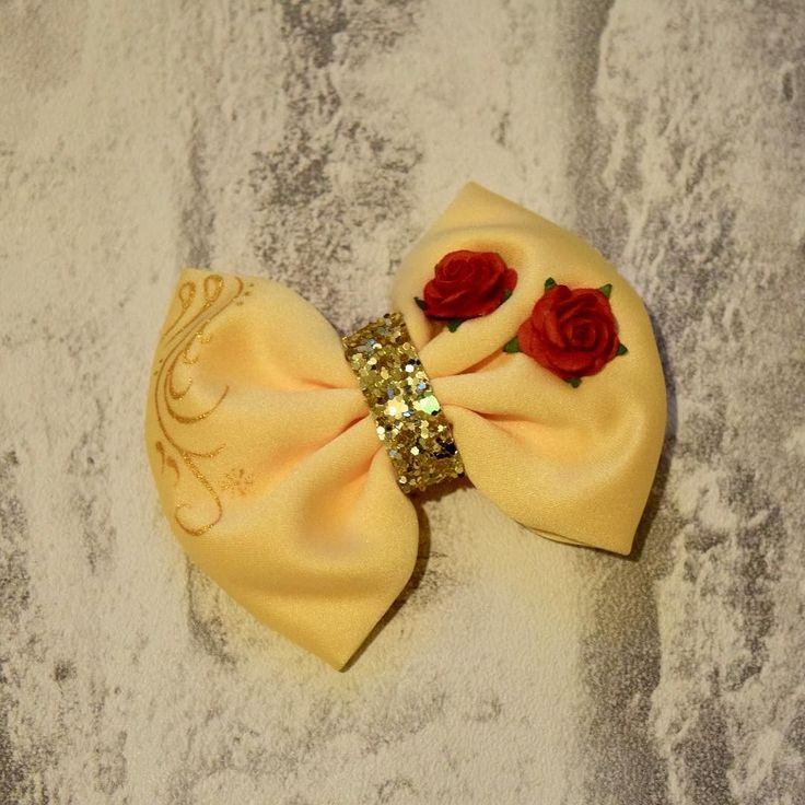 How adorable is this Beauty and the Beast inspired bow? Handmade by @wardrobeofwonderland    #beautyandthebeast #bow #handmade #smallseller #disney #disneytheme #disneyinspired #bloggers #lbloggers #thegirlgang #ukbloggers #instatag #instagood #instadaily #instalikes #instaphoto #instahome