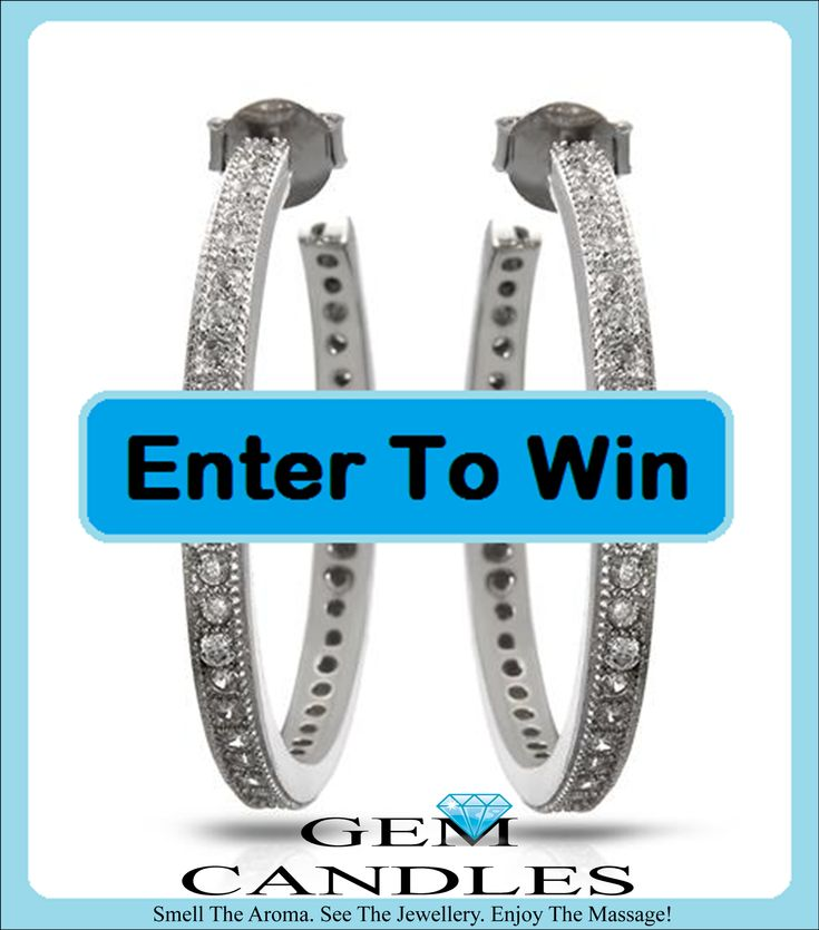 WIN these stunning hoop earrings with 44 diamonds in each ear. You will sparkle, shine & look amazing wearing these. Click HERE - FREE to enter, no purchases required.