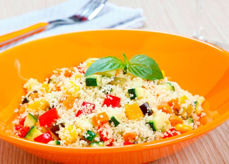Couscous Confetti salad: Method: In a bowl, combine ½ couscous and  cups boiling water. Mix it then cover and stand up to 5 minutes. Add 3-4 green onions, 1 bell pepper, 1 carrot grated, 1-2 shredded red  cabbage, parsley and ½ cup golden raisins or chopped apricots. In a small bowl, mix 1 lemon,¼ cup seasoned vinegar,1 tbspn olive oil, 1 tbspn olive curry powder and 1 ½ tspn salt. Add to salad and toss to mix. Serve at room temperature or chilled.
