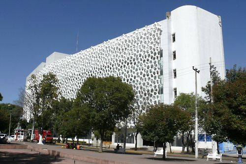 Façade of the Hospital Manuel Gea González in Mexico