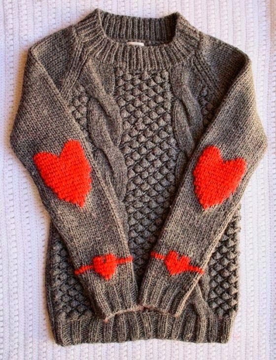 Heart Patch Sweater #heart #love