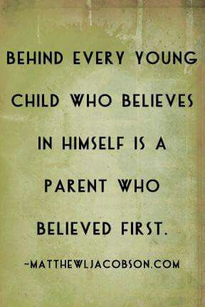 I hope my son looks back and knows I believed in him. ♡