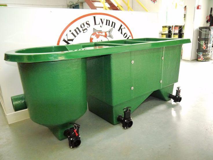 KLK 12000 Multi chamber koi pond filter + media. Kockney koi ball or slide valve