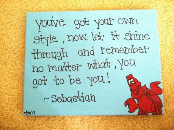 The Little Mermaid Sebastian Canvas Quote by AnnaCarolinesCrafts, $10.00
