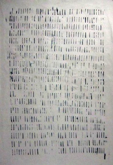 Lithography,  30x22 Original work  Collaborative work on Alphabet  emmanuelle renard / óscar valero sáez