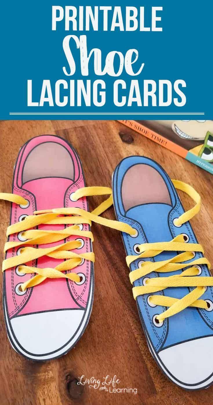 Printable Shoe Lacing Cards | Tie shoes