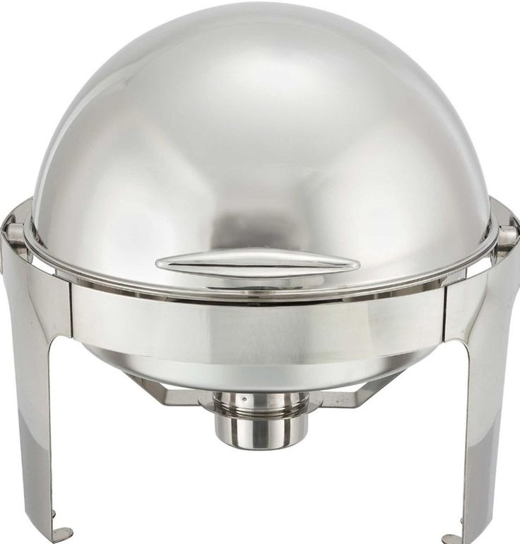 6 Qt. Round Heavyweight Stainless Steel Chafing Dish With Roll Top Cover New #chafingdish