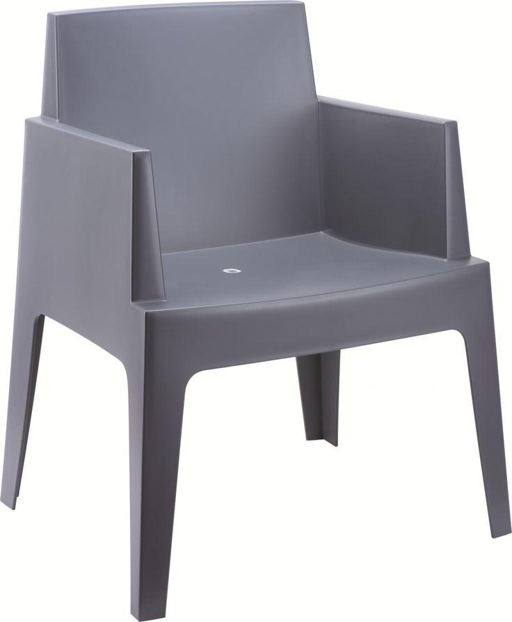 Deze mooie stapelbare design stoel Box grijs, ofwel de Boxstoel, geeft uw hippe tuin net dat extra beetje meer. De trendy...