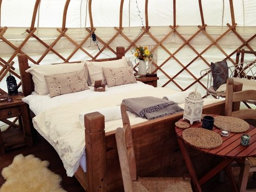 Luxury yurt honeymoons and hen parties with a woodfired hot tub at Secret Cloud House Holidays in the Peak District   The Natural Wedding Company