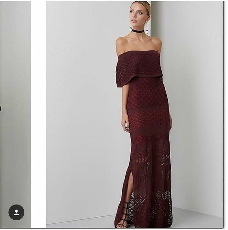 Joanna's maxi off shoulders in burgundy features a knitted look-alike pattern and ruffled front accent. The perfect piece to hit the red carpet or attend a wedding. SHOP ONLINE LINK IN BIO. . . #parlerlamode #maxidress #thesix #onlineboutique #boutique #toronto #toronto_insta #trends #musthave #offshoulderdress #outfit #ootd #instagood #instadaily #luxurious #luxurybrand #happy #girl #entrepreneur #entrepreneurlifestyle #entrepreneurlife #giveback