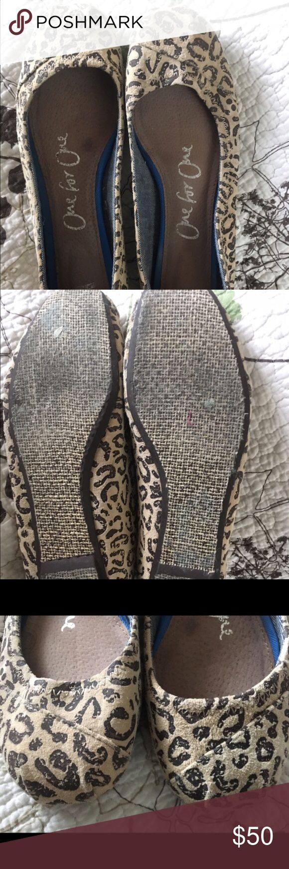 DISCONTINUED Leopard Toms Flats Bought off here but they're way big on me! Super sad because these are so cute and comfy! Open to offers! TOMS Shoes Flats & Loafers