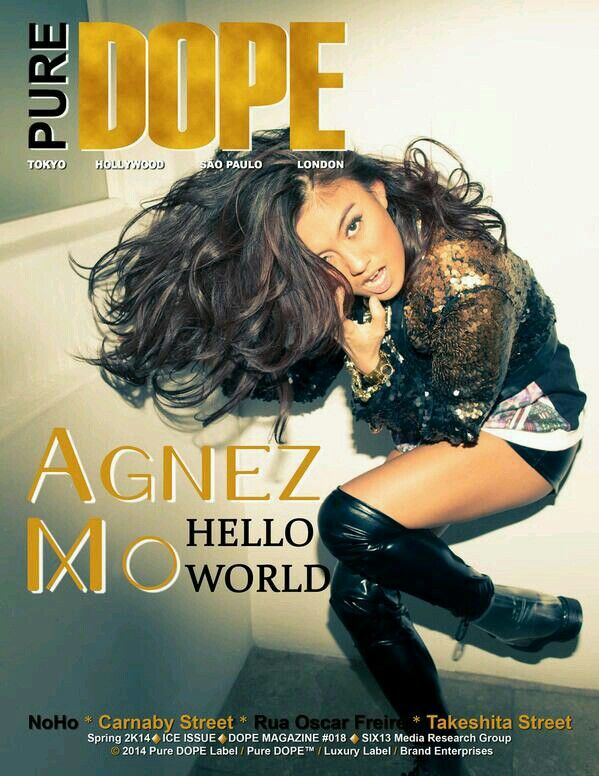 "DOPE Magazine Cover with AGNEZ MO @Agatha Opasik Zhang MO   ""HELLO WORLD"""