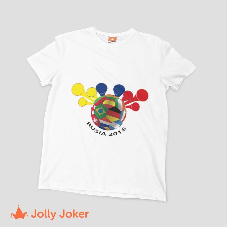 Estamos felices de estar en el mundial de Rusia! Los mejores hinchas son los Colombianos y por eso seria genial que diseñaras tus propias camisetas de Colombia, no pasar desapercibidos en ningún partido y ser la mejor barra en el mundial :)
