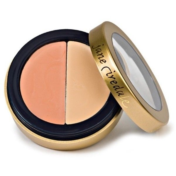 Jane Iredale Circle Delete #2 Peach Under Eye Concealer ($21) ❤ liked on Polyvore featuring beauty products, makeup, face makeup, concealer, beauty, jane iredale concealer, oil free concealer, jane iredale and peach concealer